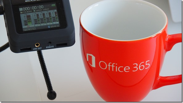 unsere neuen Kaffee-Tassen, danke an Microsoft
