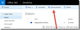 Windows 8.1: Synchronisation von SharePoint Teamsites, Groups und OneDrive for Business