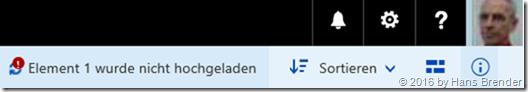 Fehlermeldung im Browser