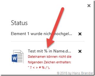 erweitere Fehlermeldung im Browser