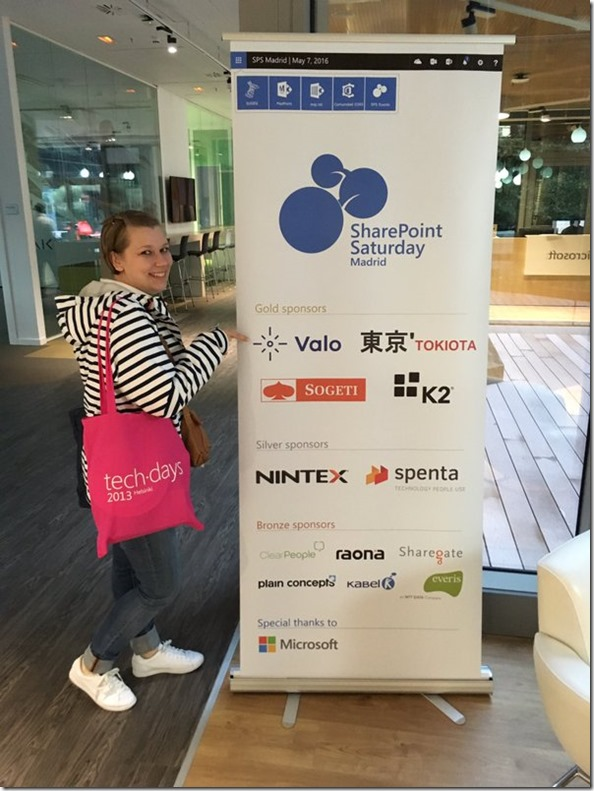 Sponsors of the SharePoint Saturday Madrid
