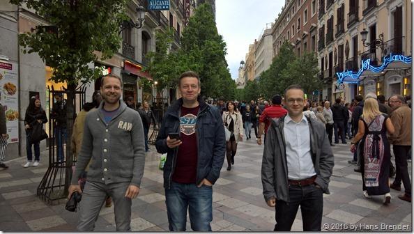 Sightseeing Madrid: Thomas Fochten, Maarten Eekels, Jussi Roine
