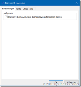 OneDrive for Business Einstellungen