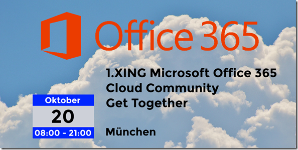 1.XING Microsoft Office 365 Cloud Community Get Together