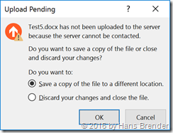 Office Upload Pedning error