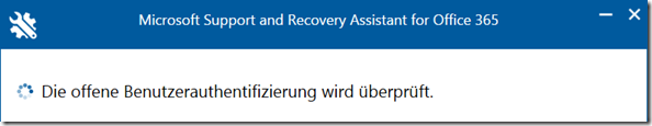 SARA: Benutzerauthentifizierung wird geprüft