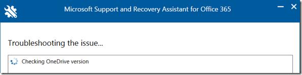 SARA: Die installierte OneDrive Version (NGSC) wird überprüft