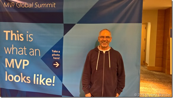 Hans: MVP Summit 2016