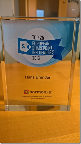 Top 25 European SharePoint Influencers 2016