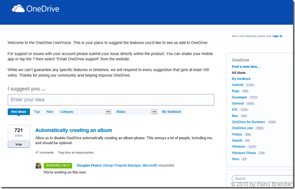 UserVoice OneDrive