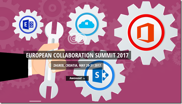 European Collaboration Summit 2017, Zagreb, Craotia, May 29-31