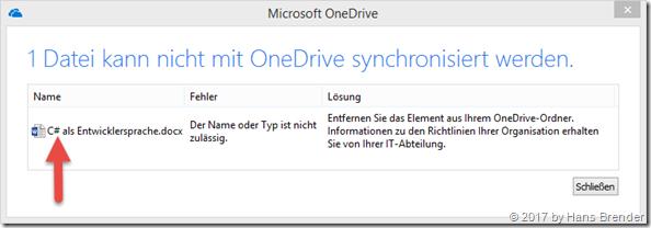 Error on sync: # and % still make problems