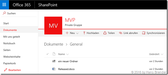View of files from Teams of a SharePoint Group