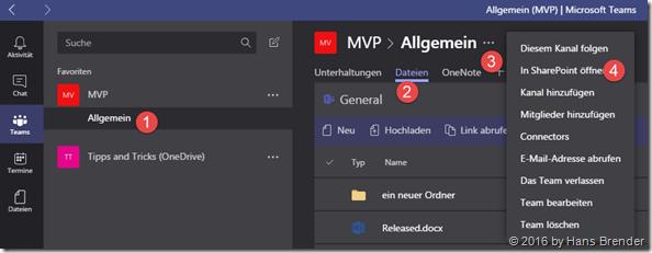 Schritt für Schritt Anleitung, Dateien aus Teams lokal zu sychroniseren.