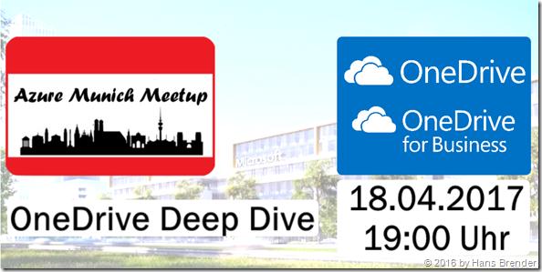 Azure Meetup Munich: OneDrive Deep Dive
