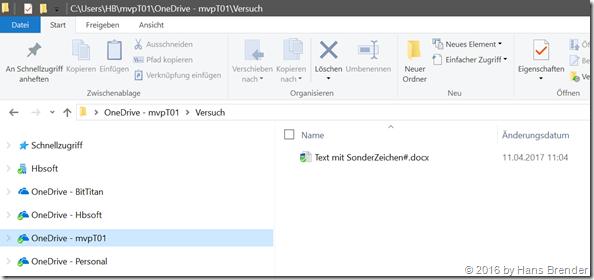 Next Generation Sync Client; Dateinamen mit Sonderzeichen