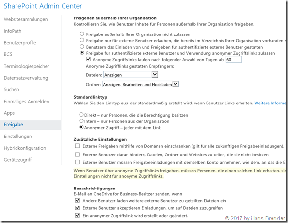 SharePoint Admin Center in Office 365
