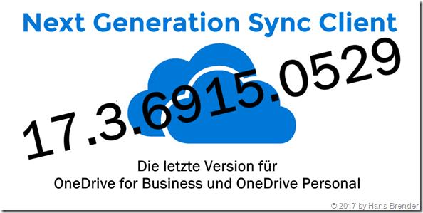 Version 17.3.6915.0529 des Next Generation Sync Client verfügbar