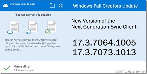 Next Generation Sync Client: 17.3.7064.1005 und 17.3.7073.1013