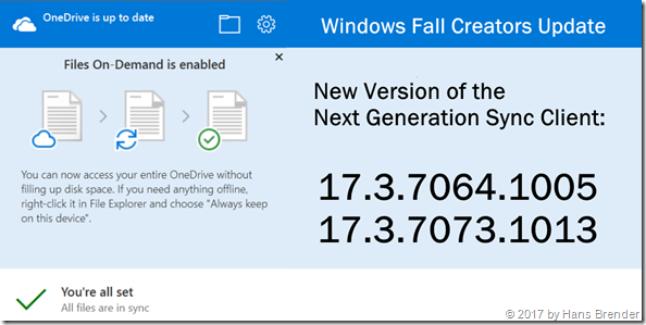 Next Generation Sync Client: Version 17.3.7064.1005 and 17.3.7073.1013