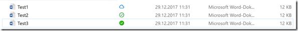 die drei möglichen Status einer Datei