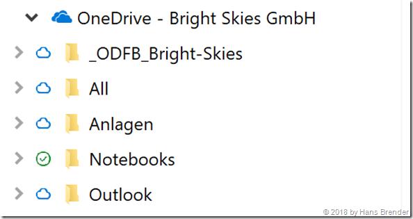 OneDrive Verfügbarkeitsstatus Im Windows Explorer
