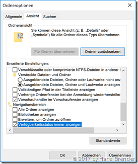 Ansicht Eigenschaften Windows 10, Version 1709, Build  17063