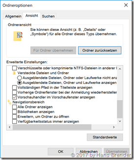 Ansicht Eigenschaften Windows 10, Version 1709, Build  16299