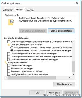 Ansicht Eigenschaften Windows 10, Version 1709, Build  16299