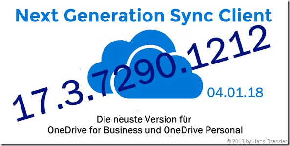 Next Generation Sync Client Version 17.3.7290.1212