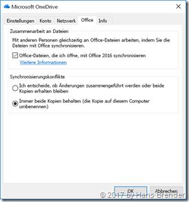 Next Generation Sync Client: Eigenschaften Office Kartenreiter