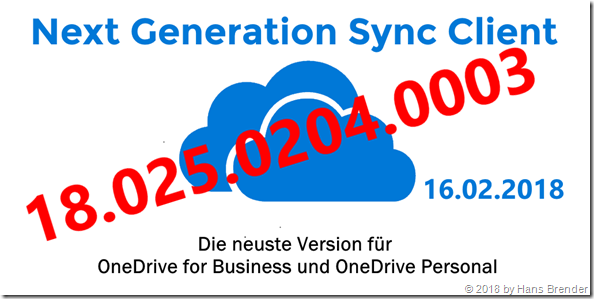 Next Generation Sync Client: Version 18.025.0204.0003