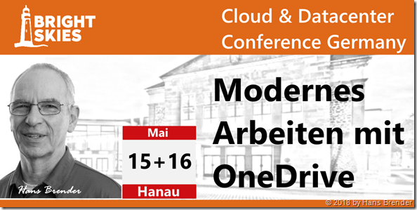 "Ich spreche auf der ""Cloud & Datacenter Conference Germany"" in Hanau"