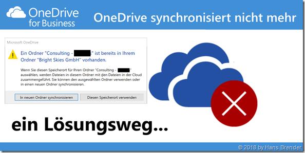 OneDrive synchroinisiert nicht mehr