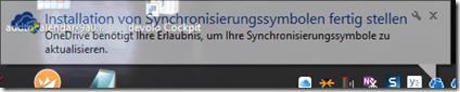 Installation Synchronisierungssymbole