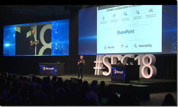 Jeff Teper mit der Keynote SPC18