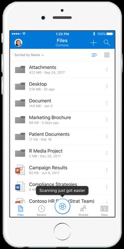 OneDrive: erleichtertes Scannen