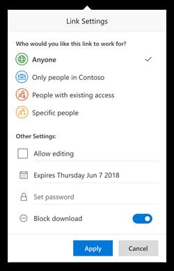 Teilen: Passwort und Blocken