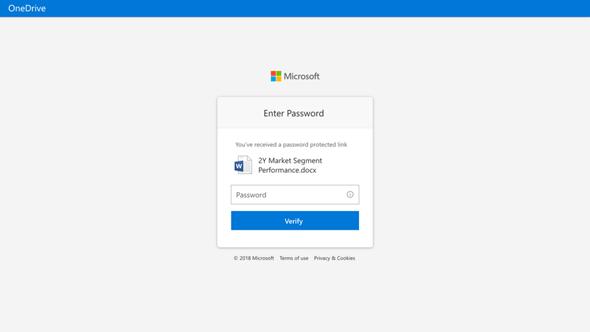 Passworteingabe beim Empfänger