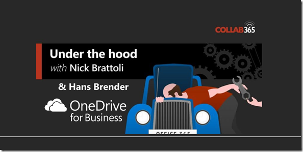 Under the Hood #12 : OneDrive with Hans Brender