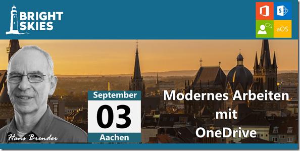 aoS Aachen: Modernes Arbeiten mit OneDrive