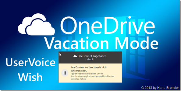 OneDrive:  Vacation Mode