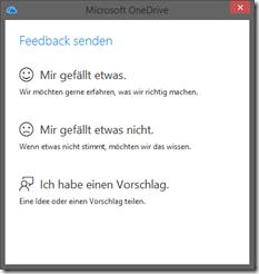 OneDrive: Feedback