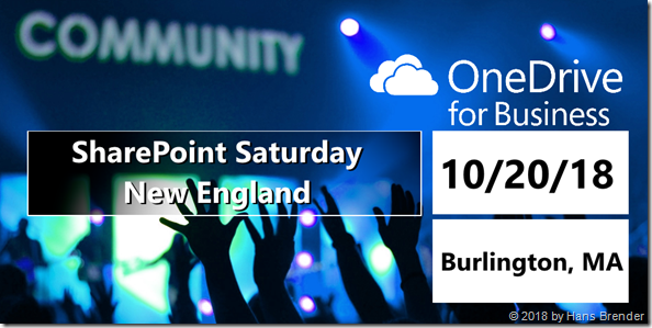 SharePoint Saturday NewEngland 2018