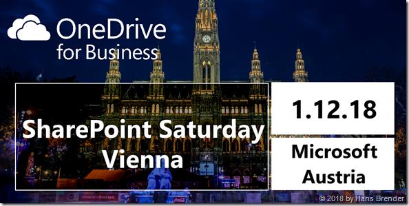 SharePoint Saturday Vienna 2018