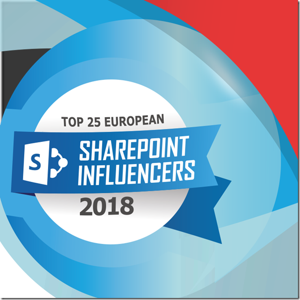 Top25 European SharePoint Influencer