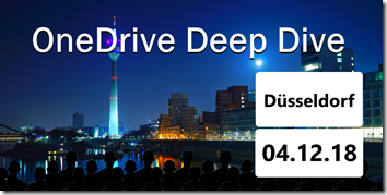 OneDrive Deep Dive 2018 in Düsseldorf