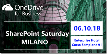 SharePoint Saturday Milano 2018