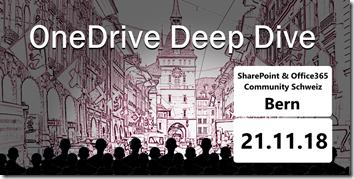 OneDrive Deep Dive 2018 in Bern