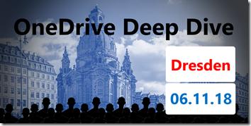 OneDrive Deep Dive 2018 in Dresden
